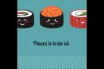 Émoticônes de sushis Étiquettes carrées - gabarit prédéfini. <br/>Utilisez notre logiciel Avery Design & Print Online pour personnaliser facilement la conception.