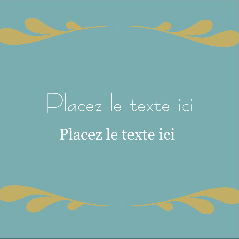 """1½"""" x 1½"""" Étiquettes carrées - Filigrane"""