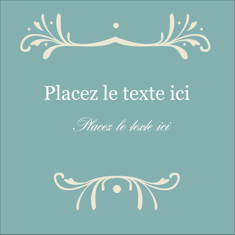 """1½"""" x 1½"""" Étiquettes carrées - Filigrane vert"""
