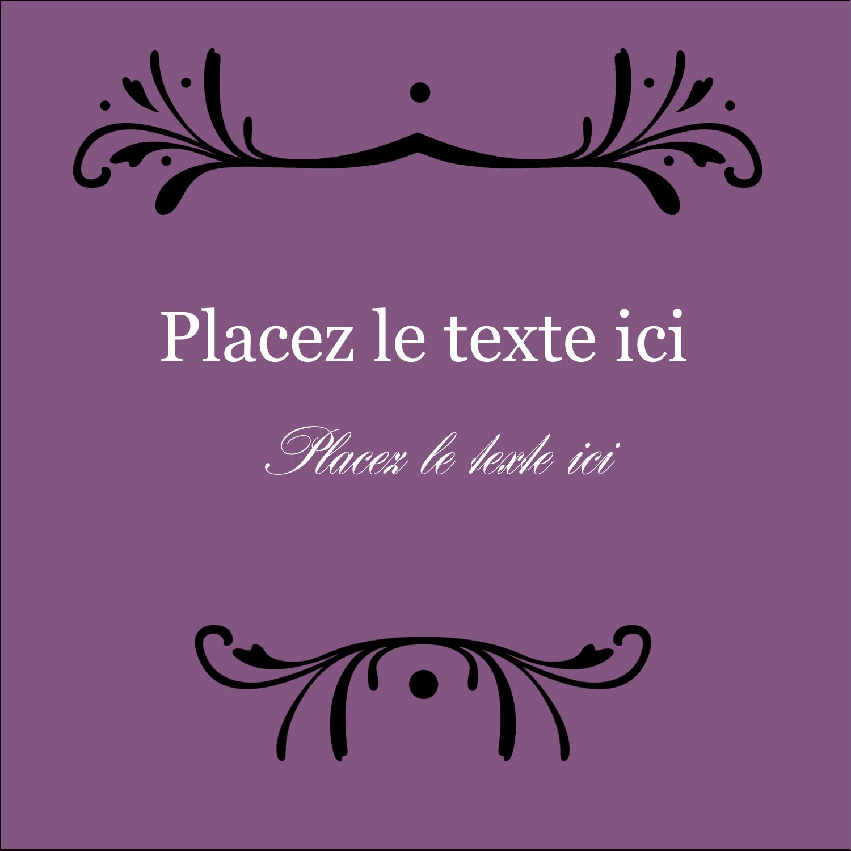 """2"""" x 2"""" Étiquettes carrées - Filigrane violet"""