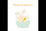 Panier de lapin Étiquettes carrées - gabarit prédéfini. <br/>Utilisez notre logiciel Avery Design & Print Online pour personnaliser facilement la conception.