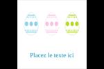 Trio d'œufs de Pâques Étiquettes carrées - gabarit prédéfini. <br/>Utilisez notre logiciel Avery Design & Print Online pour personnaliser facilement la conception.