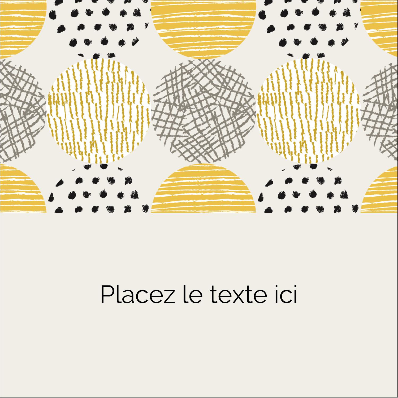"""2"""" Diameter Étiquettes rondes - Cercles urbains jaunes"""