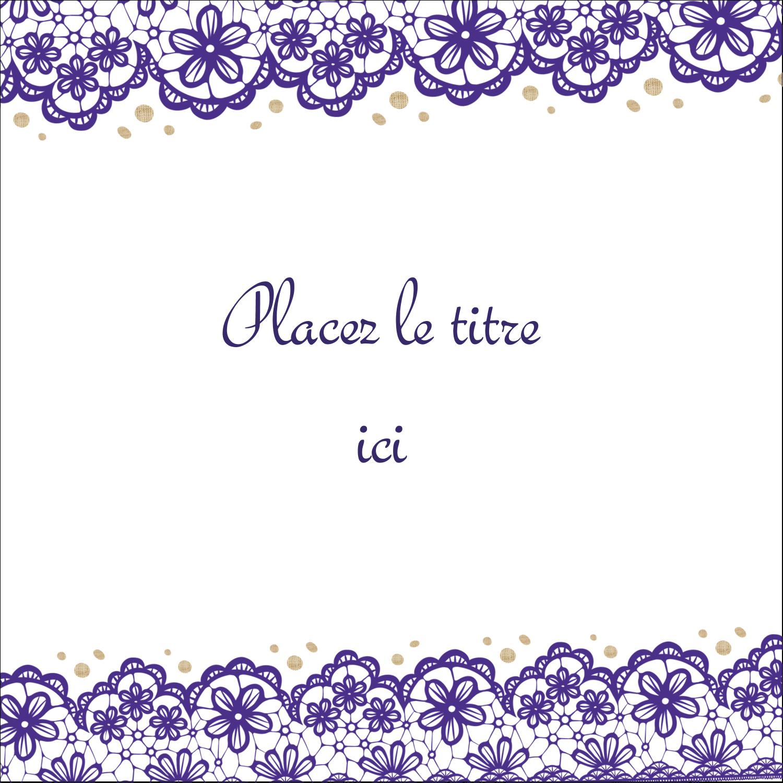 """2"""" Diameter Étiquettes rondes - Mariage en dentelle violette"""