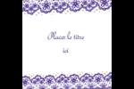 Mariage en dentelle violette Étiquettes rondes - gabarit prédéfini. <br/>Utilisez notre logiciel Avery Design & Print Online pour personnaliser facilement la conception.