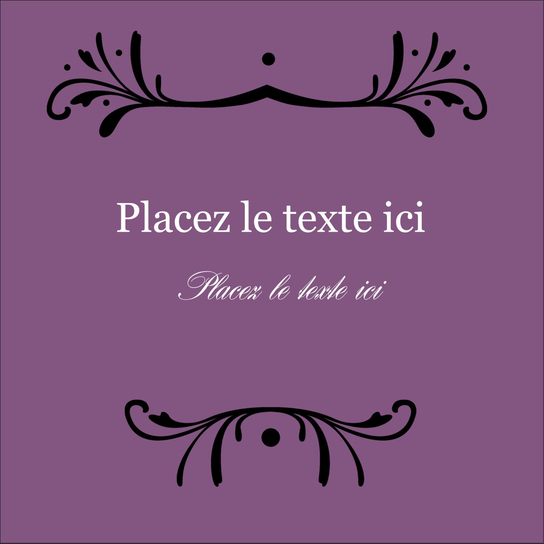 """9¾"""" x 1¼"""" Étiquettes enveloppantes - Filigrane violet"""