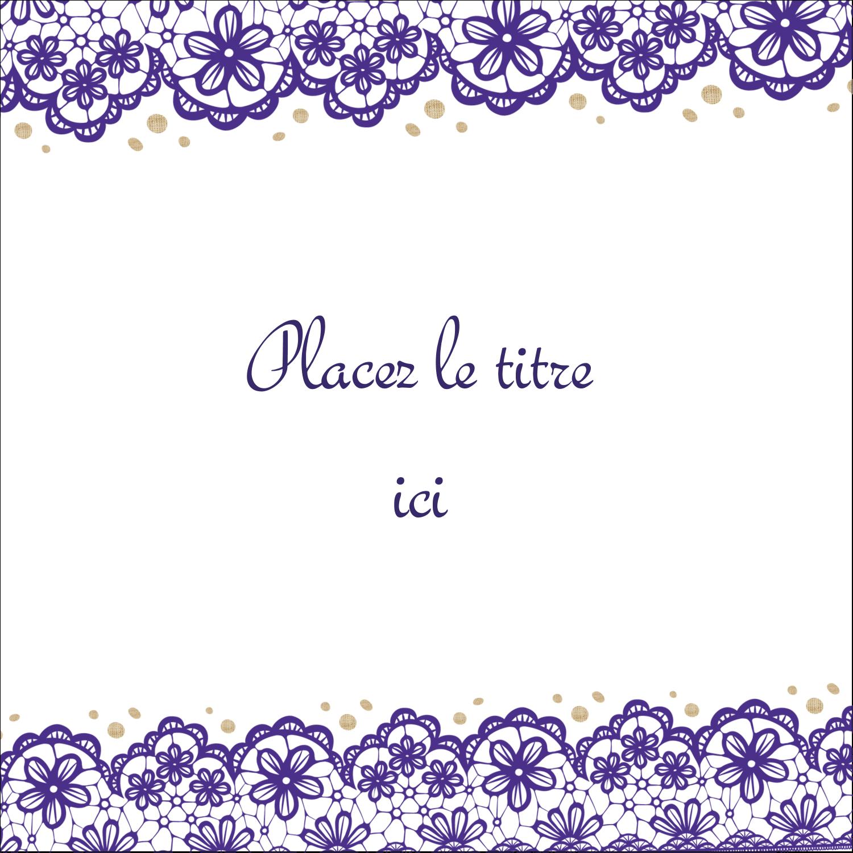 """9¾"""" x 1¼"""" Étiquettes enveloppantes - Mariage en dentelle violette"""