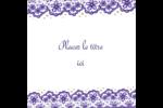 Mariage en dentelle violette Étiquettes enveloppantes - gabarit prédéfini. <br/>Utilisez notre logiciel Avery Design & Print Online pour personnaliser facilement la conception.