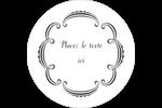 Le mariage fantaisiste de Martha Stewart Étiquettes rondes - gabarit prédéfini. <br/>Utilisez notre logiciel Avery Design & Print Online pour personnaliser facilement la conception.