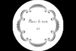 Le mariage fantaisiste de Martha Stewart Étiquettes arrondies - gabarit prédéfini. <br/>Utilisez notre logiciel Avery Design & Print Online pour personnaliser facilement la conception.