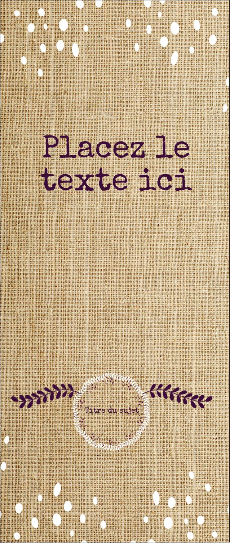 """2"""" x 3½"""" Carte d'affaire - Toile à frange"""