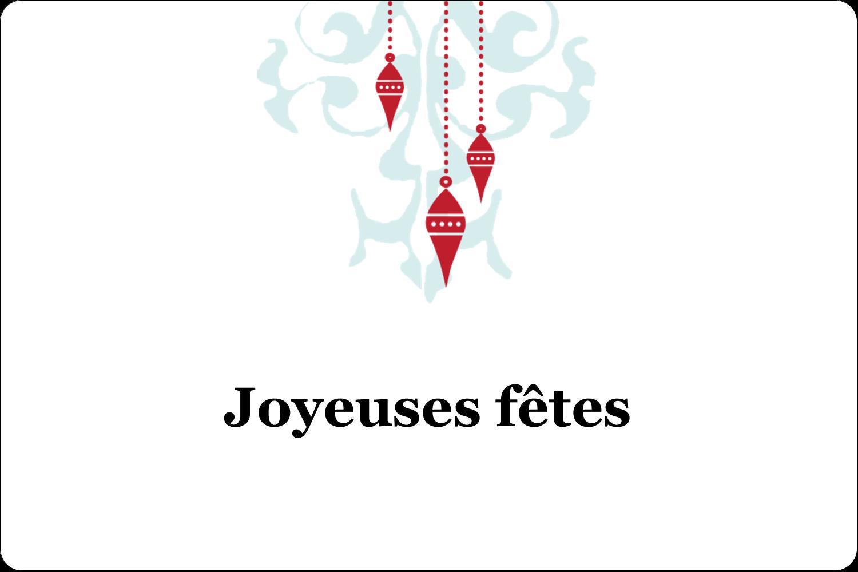"""3"""" x 3¾"""" Étiquettes rectangulaires - Noël élégant"""