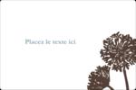 Silhouette de fleur Étiquettes rectangulaires - gabarit prédéfini. <br/>Utilisez notre logiciel Avery Design & Print Online pour personnaliser facilement la conception.