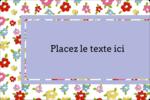 Fleurs printanières Étiquettes rectangulaires - gabarit prédéfini. <br/>Utilisez notre logiciel Avery Design & Print Online pour personnaliser facilement la conception.