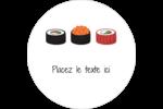 Sushis  Étiquettes arrondies - gabarit prédéfini. <br/>Utilisez notre logiciel Avery Design & Print Online pour personnaliser facilement la conception.