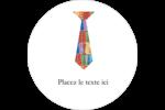 Cravate de la Fête des Pères Étiquettes arrondies - gabarit prédéfini. <br/>Utilisez notre logiciel Avery Design & Print Online pour personnaliser facilement la conception.