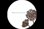 Silhouette de fleur Étiquettes arrondies - gabarit prédéfini. <br/>Utilisez notre logiciel Avery Design & Print Online pour personnaliser facilement la conception.