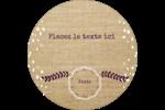 Toile à frange Étiquettes arrondies - gabarit prédéfini. <br/>Utilisez notre logiciel Avery Design & Print Online pour personnaliser facilement la conception.