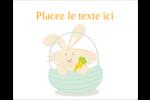 Panier de lapin Étiquettes rectangulaires - gabarit prédéfini. <br/>Utilisez notre logiciel Avery Design & Print Online pour personnaliser facilement la conception.