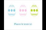 Trio d'œufs de Pâques Étiquettes rectangulaires - gabarit prédéfini. <br/>Utilisez notre logiciel Avery Design & Print Online pour personnaliser facilement la conception.