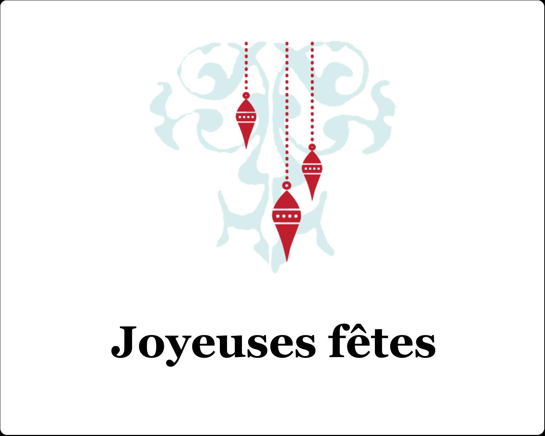 """2"""" Diameter Étiquettes rondes gaufrées - Noël élégant"""