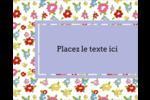 Fleurs printanières Étiquettes rondes gaufrées - gabarit prédéfini. <br/>Utilisez notre logiciel Avery Design & Print Online pour personnaliser facilement la conception.