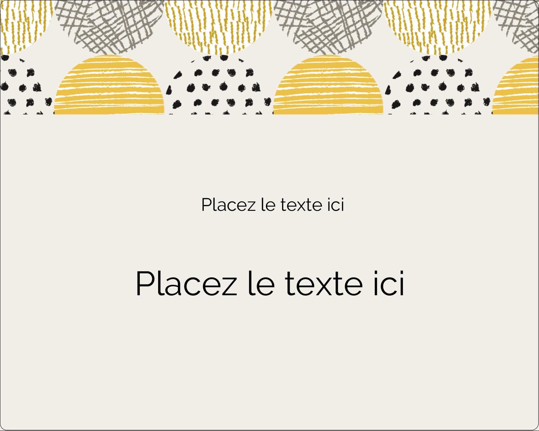 """2"""" Diameter Étiquettes rondes gaufrées - Cercles urbains jaunes"""