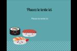 Émoticônes de sushis Étiquettes rondes gaufrées - gabarit prédéfini. <br/>Utilisez notre logiciel Avery Design & Print Online pour personnaliser facilement la conception.