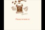 Café classique Étiquettes rondes gaufrées - gabarit prédéfini. <br/>Utilisez notre logiciel Avery Design & Print Online pour personnaliser facilement la conception.