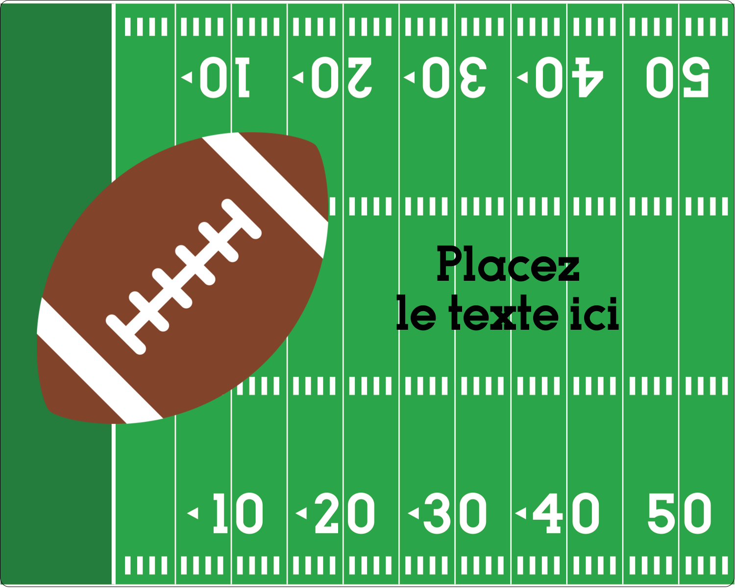 "3"" x 3¾"" Étiquettes rectangulaires - Terrain de football"