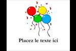Quatre ballons Étiquettes rectangulaires - gabarit prédéfini. <br/>Utilisez notre logiciel Avery Design & Print Online pour personnaliser facilement la conception.