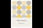 Cercles urbains jaunes Étiquettes rondes - gabarit prédéfini. <br/>Utilisez notre logiciel Avery Design & Print Online pour personnaliser facilement la conception.