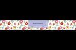 Fleurs printanières Étiquettes ovales - gabarit prédéfini. <br/>Utilisez notre logiciel Avery Design & Print Online pour personnaliser facilement la conception.