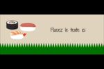 Sushis  Cartes Pour Le Bureau - gabarit prédéfini. <br/>Utilisez notre logiciel Avery Design & Print Online pour personnaliser facilement la conception.