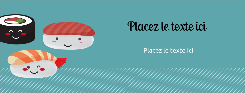 """1-7/16"""" x 3¾"""" Cartes Pour Le Bureau - Émoticônes de sushis"""