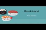 Émoticônes de sushis Cartes Pour Le Bureau - gabarit prédéfini. <br/>Utilisez notre logiciel Avery Design & Print Online pour personnaliser facilement la conception.