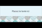 Cercles urbains bleus Affichette - gabarit prédéfini. <br/>Utilisez notre logiciel Avery Design & Print Online pour personnaliser facilement la conception.