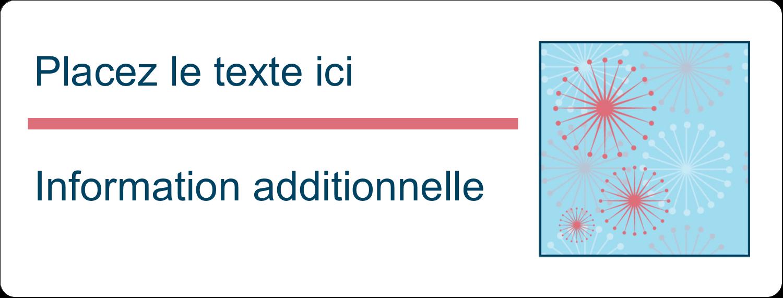 """½"""" x 1¾"""" Étiquettes D'Adresse - Célébration simple"""