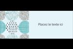 Cercles urbains bleus Étiquettes D'Adresse - gabarit prédéfini. <br/>Utilisez notre logiciel Avery Design & Print Online pour personnaliser facilement la conception.