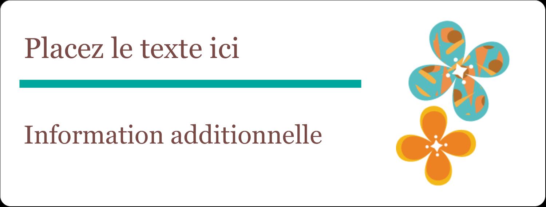 """½"""" x 1¾"""" Étiquettes D'Adresse - Motif fleuri"""