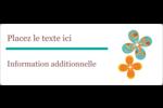 Motif fleuri Étiquettes D'Adresse - gabarit prédéfini. <br/>Utilisez notre logiciel Avery Design & Print Online pour personnaliser facilement la conception.