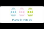 Trio d'œufs de Pâques Étiquettes D'Adresse - gabarit prédéfini. <br/>Utilisez notre logiciel Avery Design & Print Online pour personnaliser facilement la conception.
