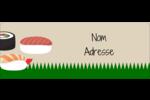 Sushis  Étiquettes D'Adresse - gabarit prédéfini. <br/>Utilisez notre logiciel Avery Design & Print Online pour personnaliser facilement la conception.