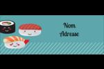 Émoticônes de sushis Étiquettes D'Adresse - gabarit prédéfini. <br/>Utilisez notre logiciel Avery Design & Print Online pour personnaliser facilement la conception.