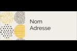Cercles urbains jaunes Étiquettes D'Adresse - gabarit prédéfini. <br/>Utilisez notre logiciel Avery Design & Print Online pour personnaliser facilement la conception.