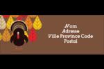Dinde automnale Étiquettes D'Adresse - gabarit prédéfini. <br/>Utilisez notre logiciel Avery Design & Print Online pour personnaliser facilement la conception.