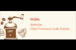 Café classique Étiquettes D'Adresse - gabarit prédéfini. <br/>Utilisez notre logiciel Avery Design & Print Online pour personnaliser facilement la conception.