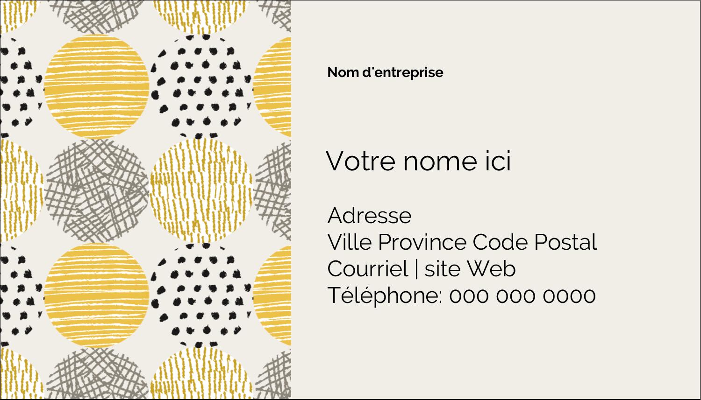 """3½"""" x 2"""" Carte d'affaire - Cercles urbains jaunes"""