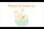Panier de lapin Carte d'affaire - gabarit prédéfini. <br/>Utilisez notre logiciel Avery Design & Print Online pour personnaliser facilement la conception.
