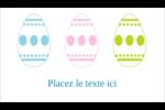 Trio d'œufs de Pâques Carte d'affaire - gabarit prédéfini. <br/>Utilisez notre logiciel Avery Design & Print Online pour personnaliser facilement la conception.